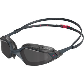 speedo Aquapulse Pro Okulary pływackie, oxid grey/psycho red/smoke